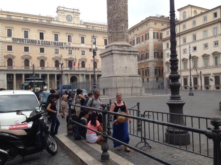 transenne piazza colonna